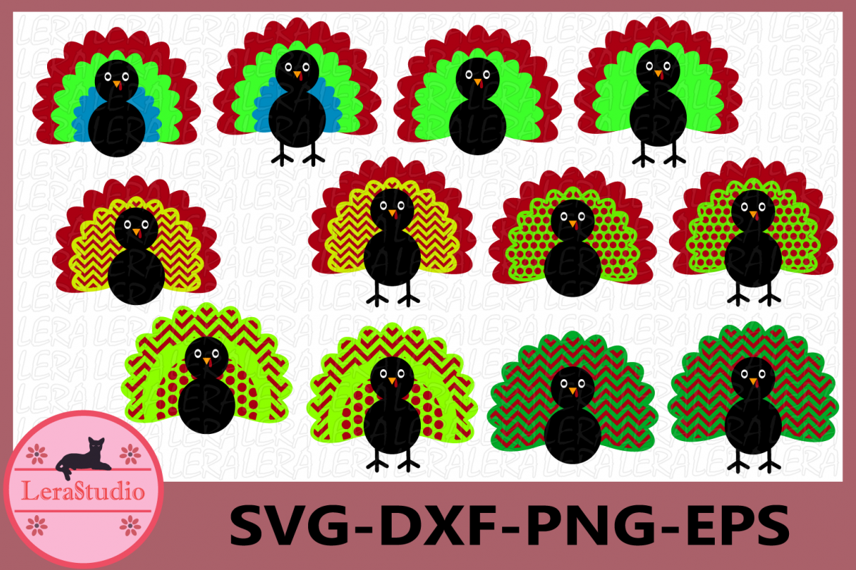 Turkey SVG, Turkey Monogram svg, Thanksgiving svg, Clipart example image 1