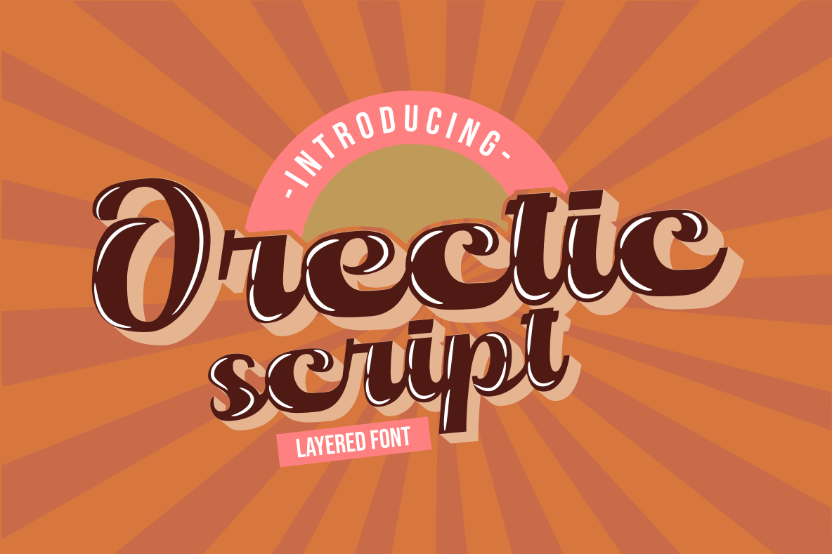 Orectic Script - Layered example image 1