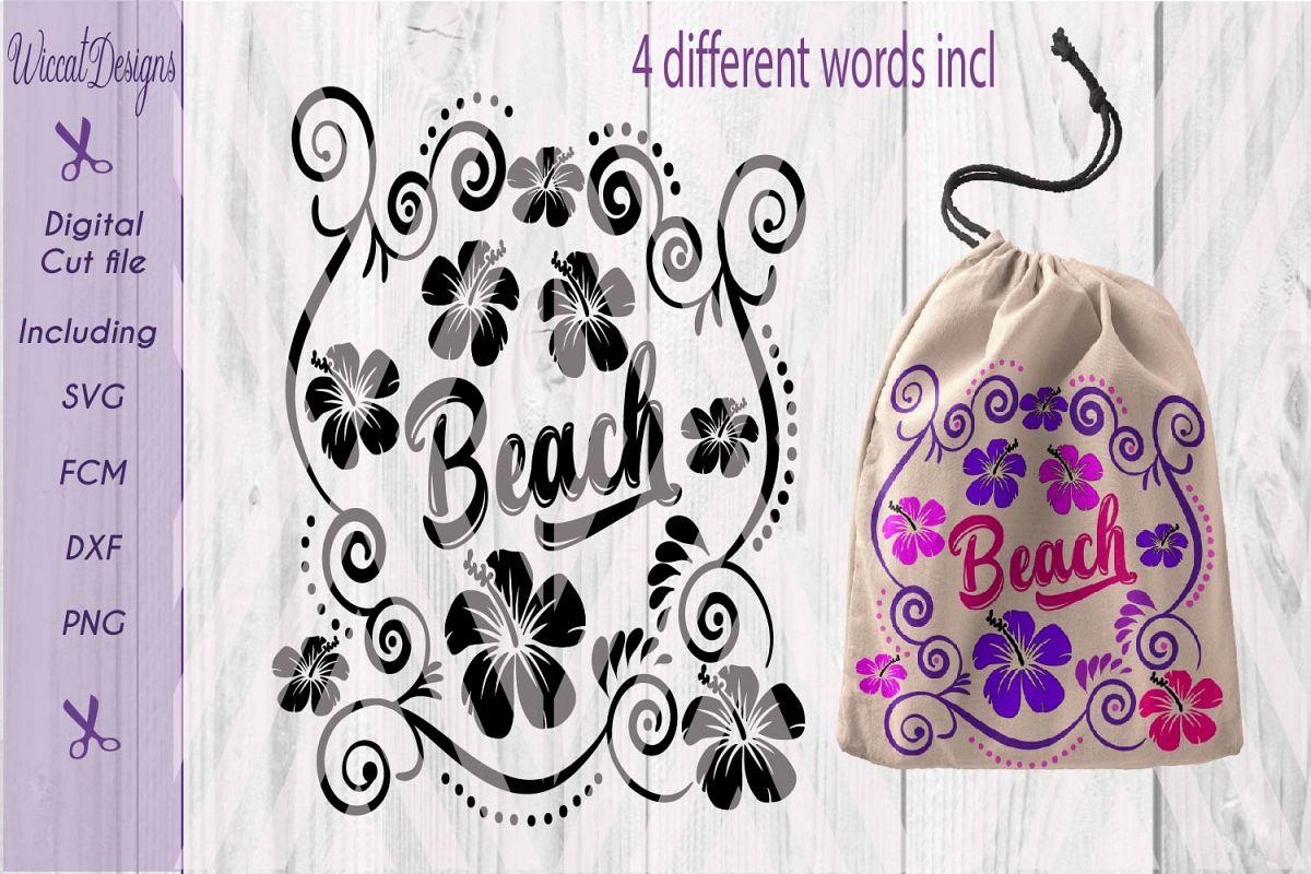 Summer cut file, flowers svg, Bag svg, pillow svg, girls , cut file designs example image 1