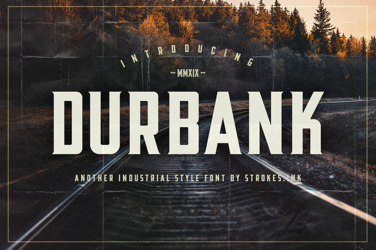 Durbank Font example image 1