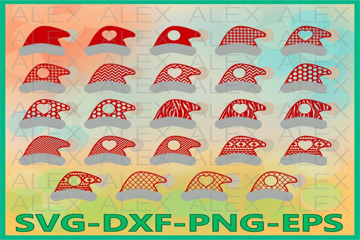 Christmas Hats SVG, Santa Claus Hats SVG, Christmas svg example image 1