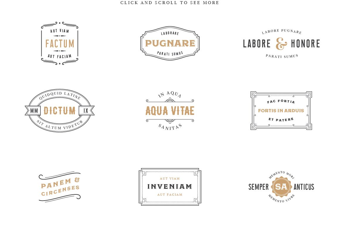 Vintage Label Logo Templates