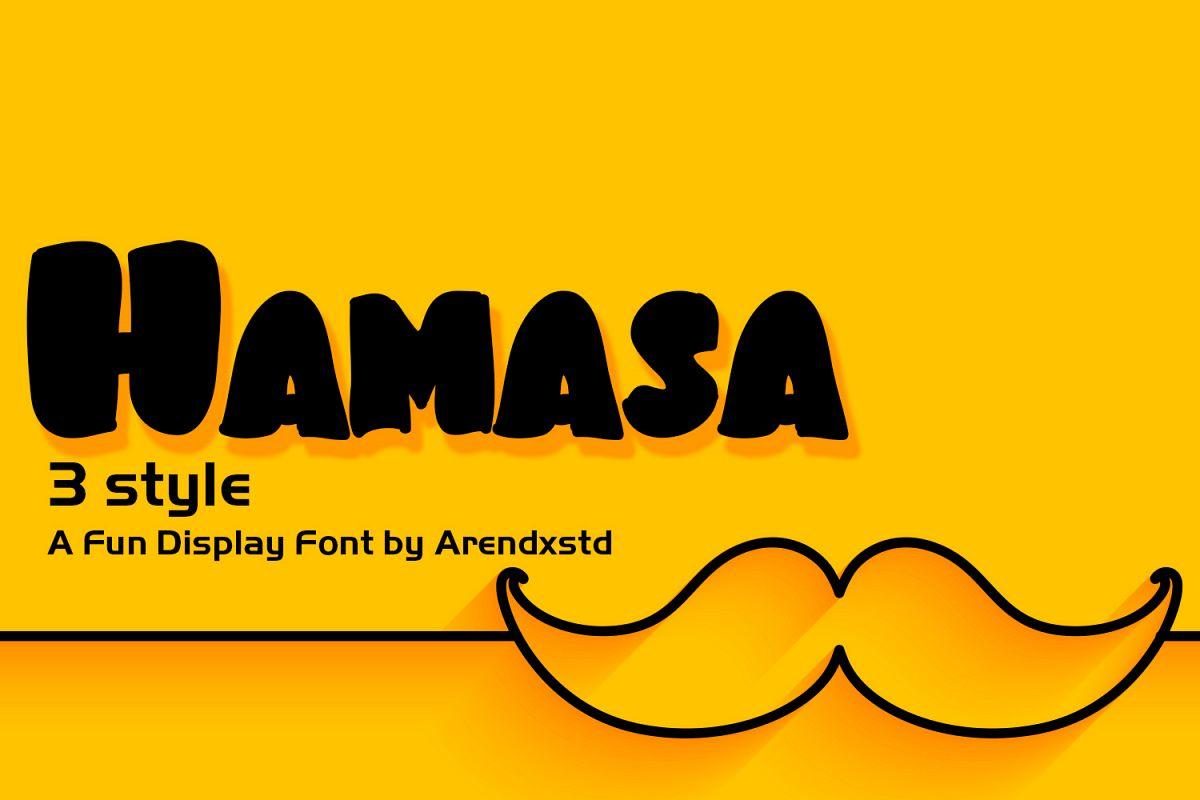 Hamasa Fun Display Font example image 1