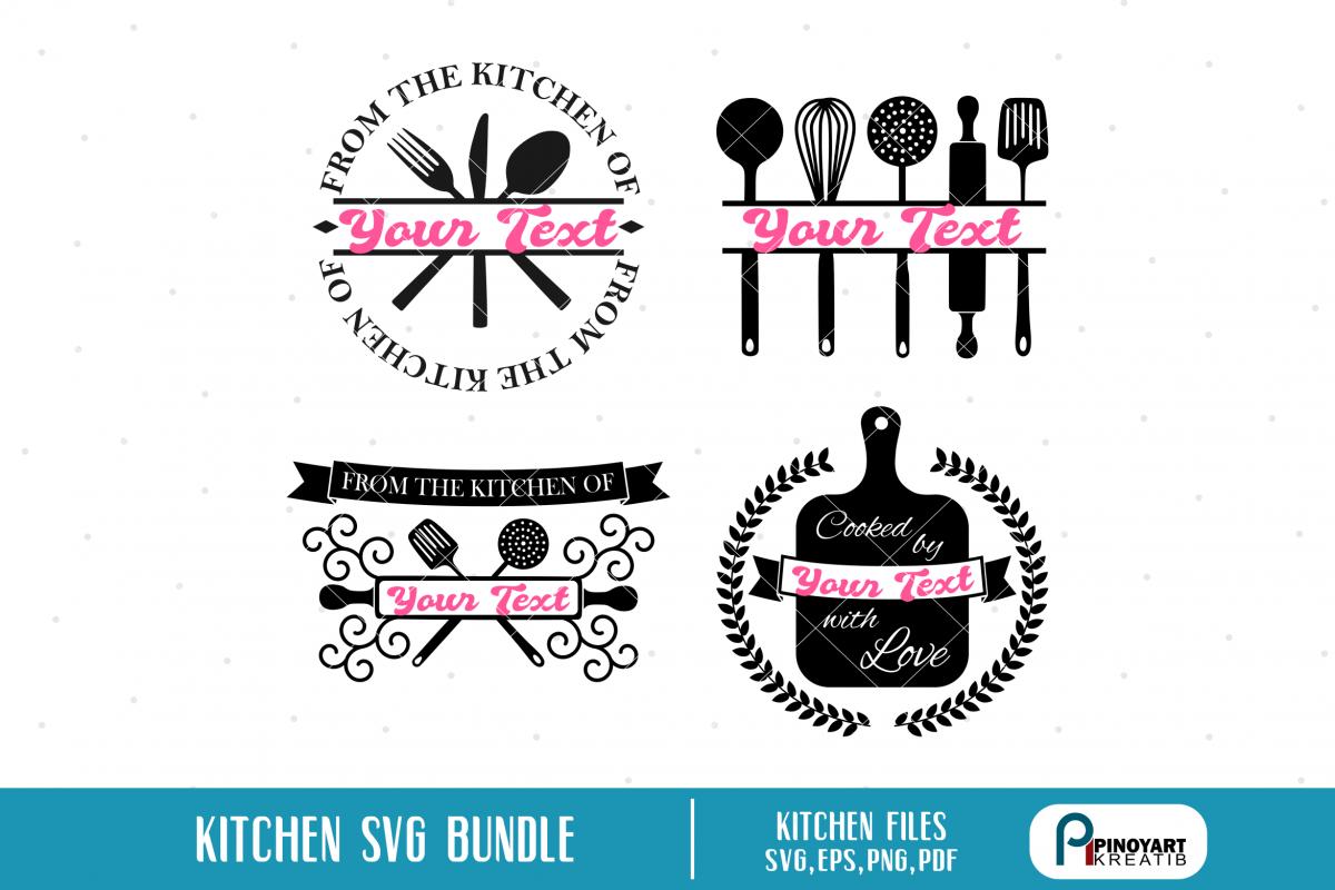 Kitchen Svg Kitchen Monogram Svg Kitchen Clip Art Svg