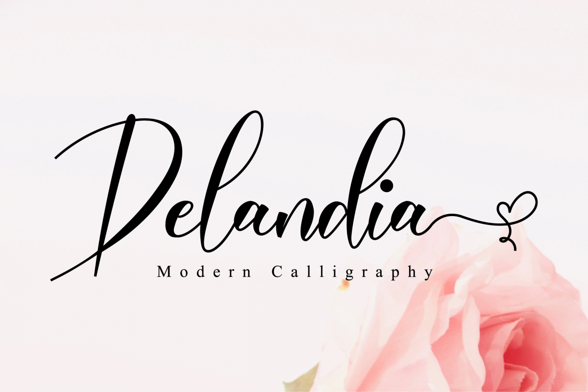 Delandia Script example image 1