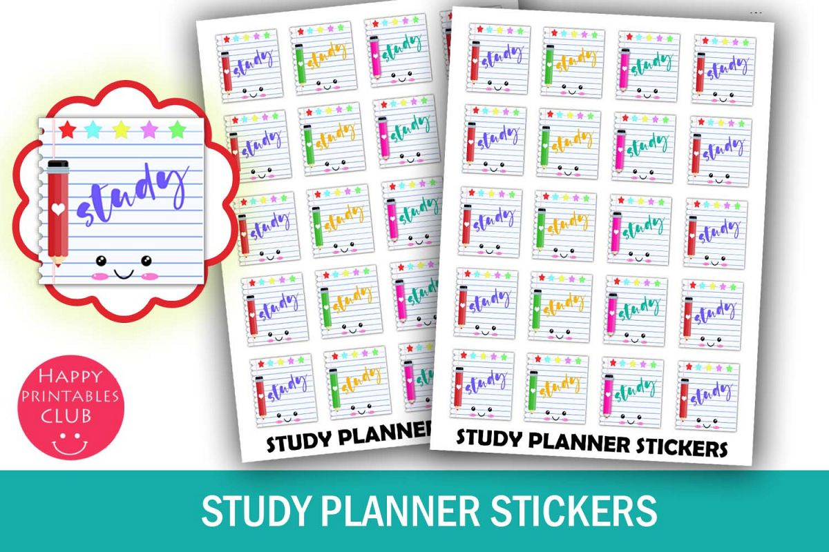 Study Planner Stickers-Kawaii Student Planner Stickers