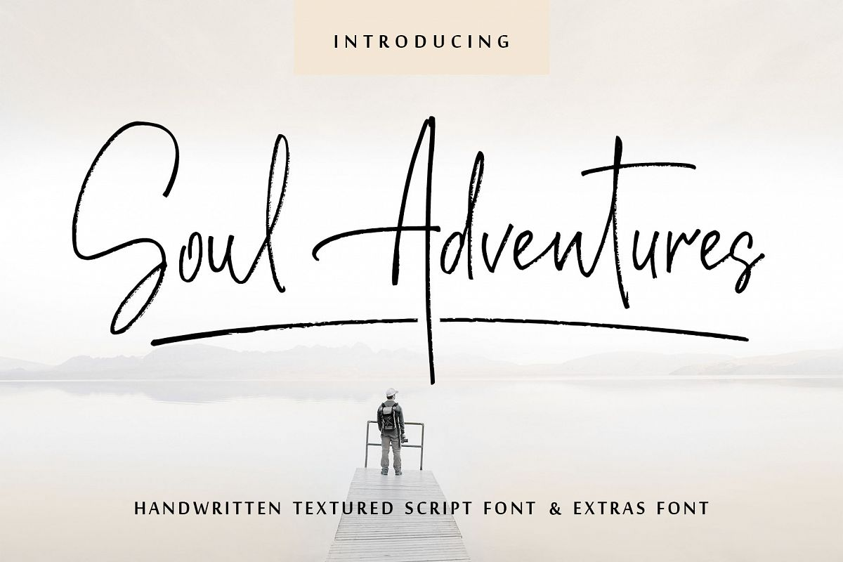 Soul Adventures script font + Extras example image 1