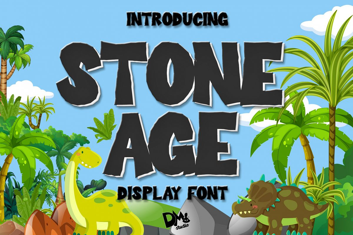 Stone Age - Display Font example image 1