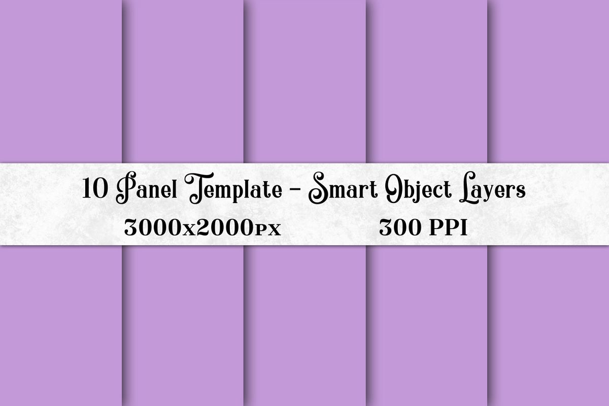 10 Panel Template with Smart Object Layers example image 1