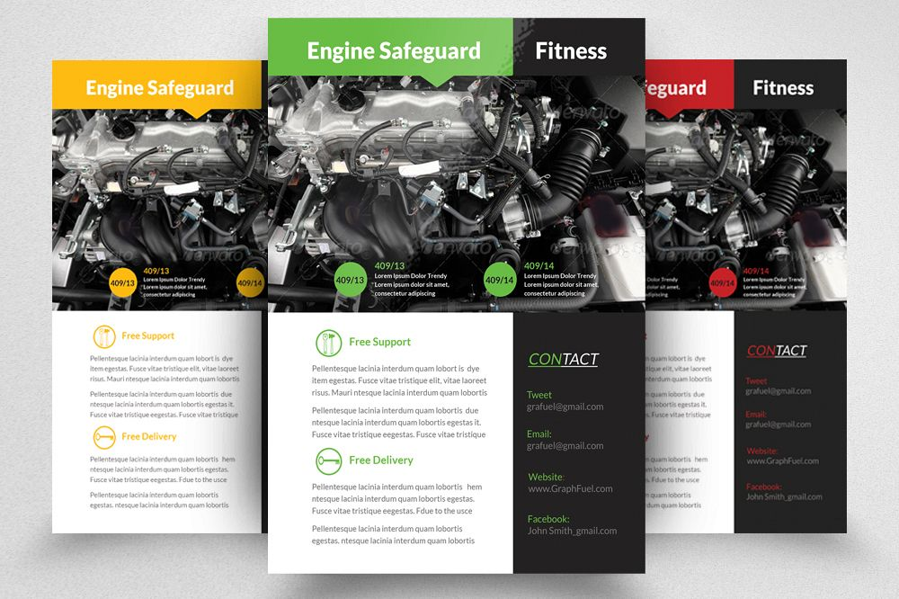auto repair mechanic flyer template