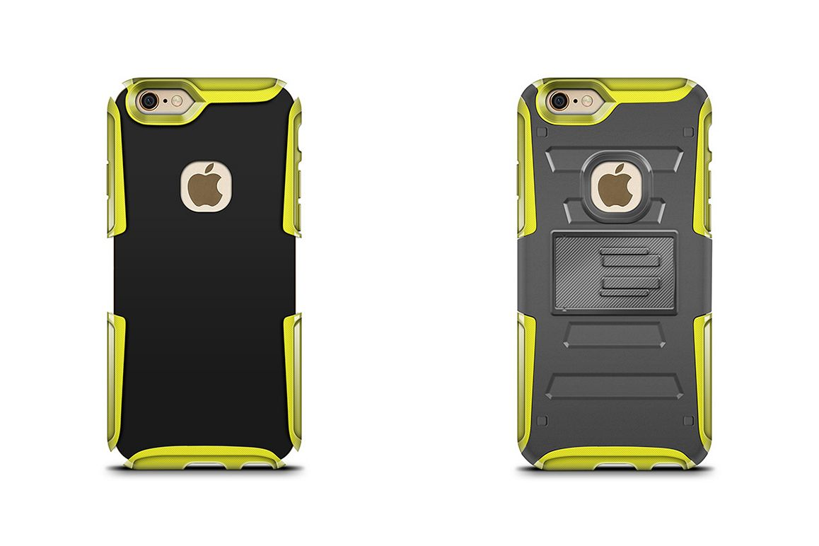 iPhone 6-6s Rugged Holster Case Mockup Back View example image 1