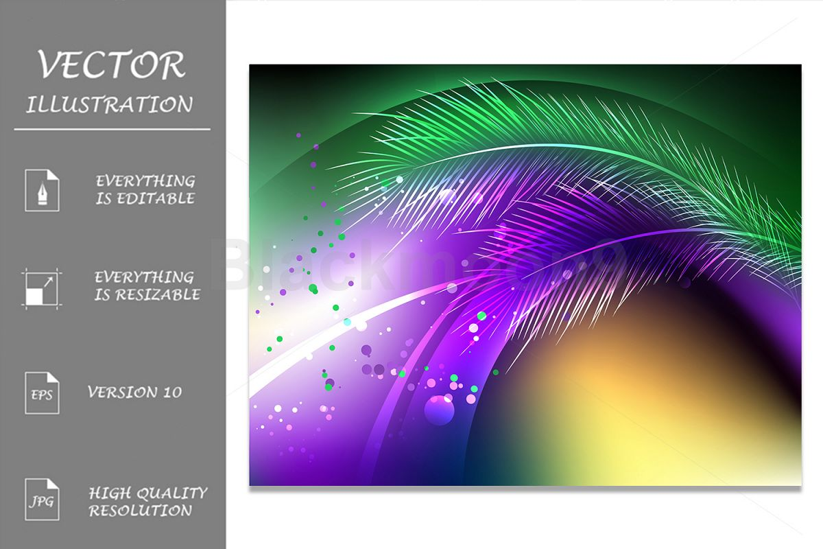 Purple Background with Feathers example image 1