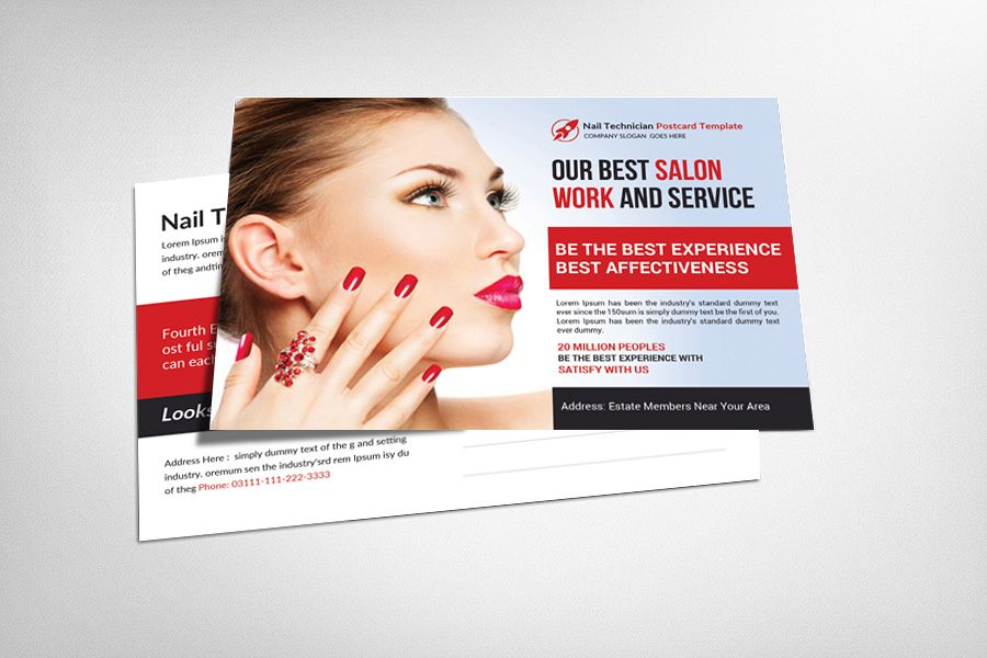 Nail Technician Postcard Template example image 1
