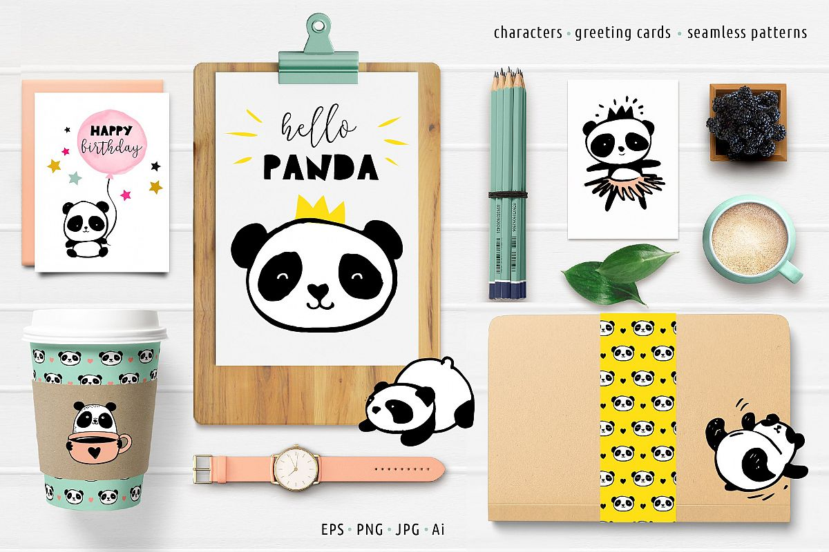 Panda bear design collection example image 1