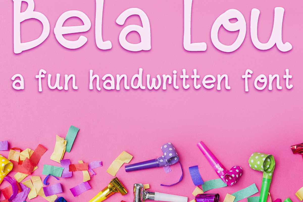 Bela Lou - a Fun, Handwritten OTF font example image 1