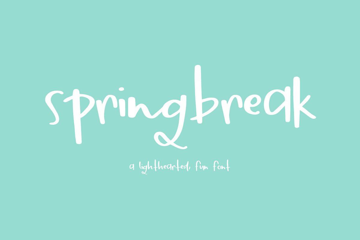 Springbreak Font example image 1
