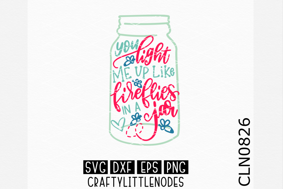 Hand Lettered- You Light Me Up Like FIreflies example image 1