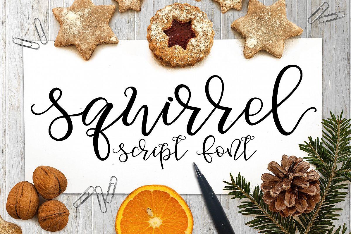 Squirrel Script Font example image 1