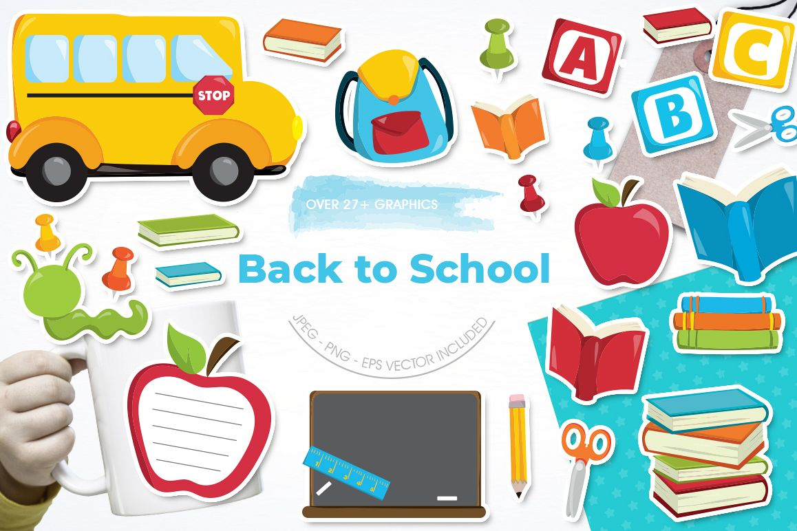Back to School graphic and illustrations example image 1