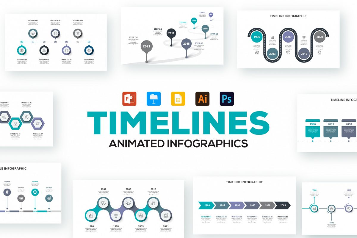 Timelines Animated Infographics example image 1