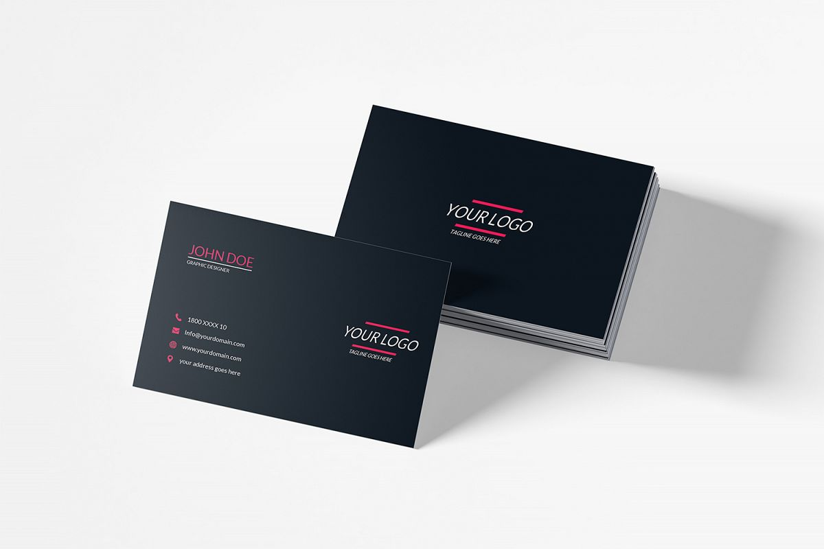 Clean Minimal Business Card Template example image 1