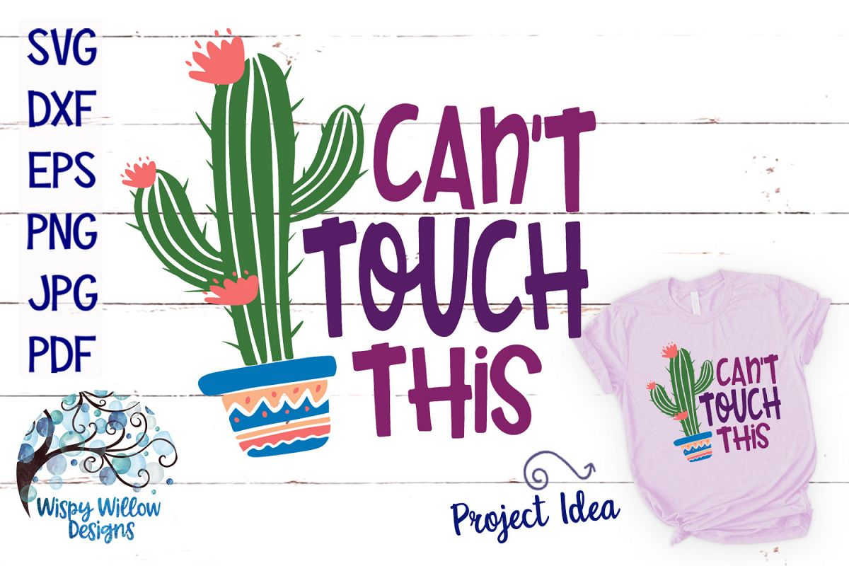 Can't Touch This Cactus SVG example image 1