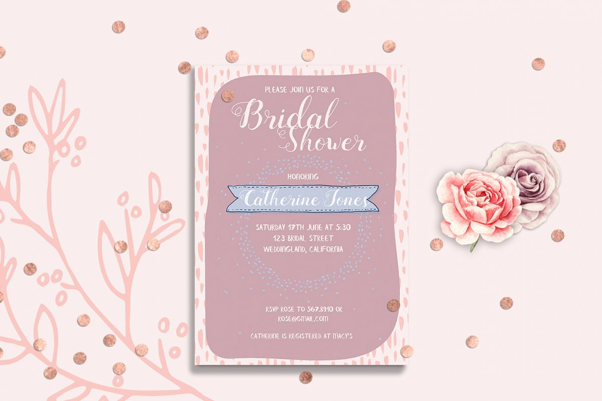 Bridal Shower Point Invitation Card Template example image 1