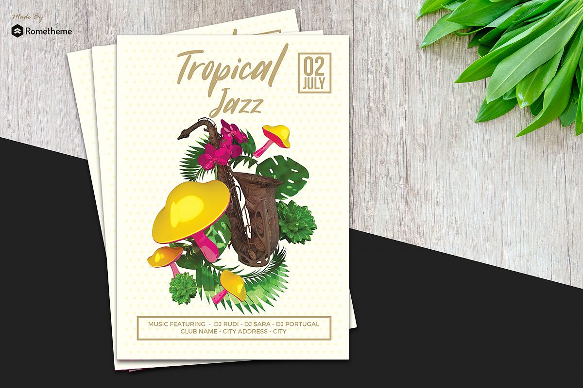 Tropical Jazz Flyer example image 1