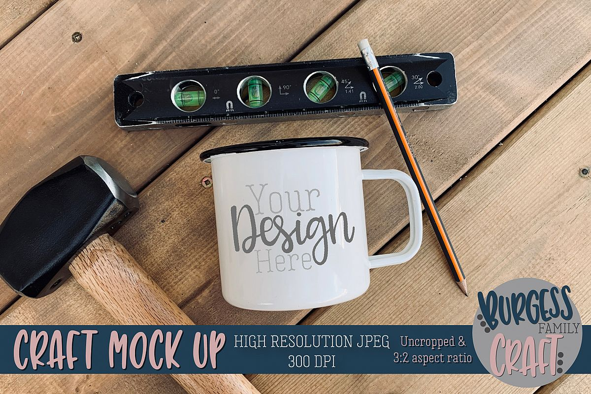 Mug tools mens Craft mock up|High Resolution example image 1