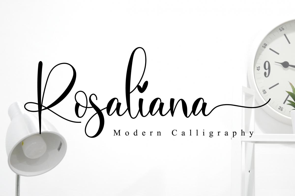 Rosaliana Script example image 1