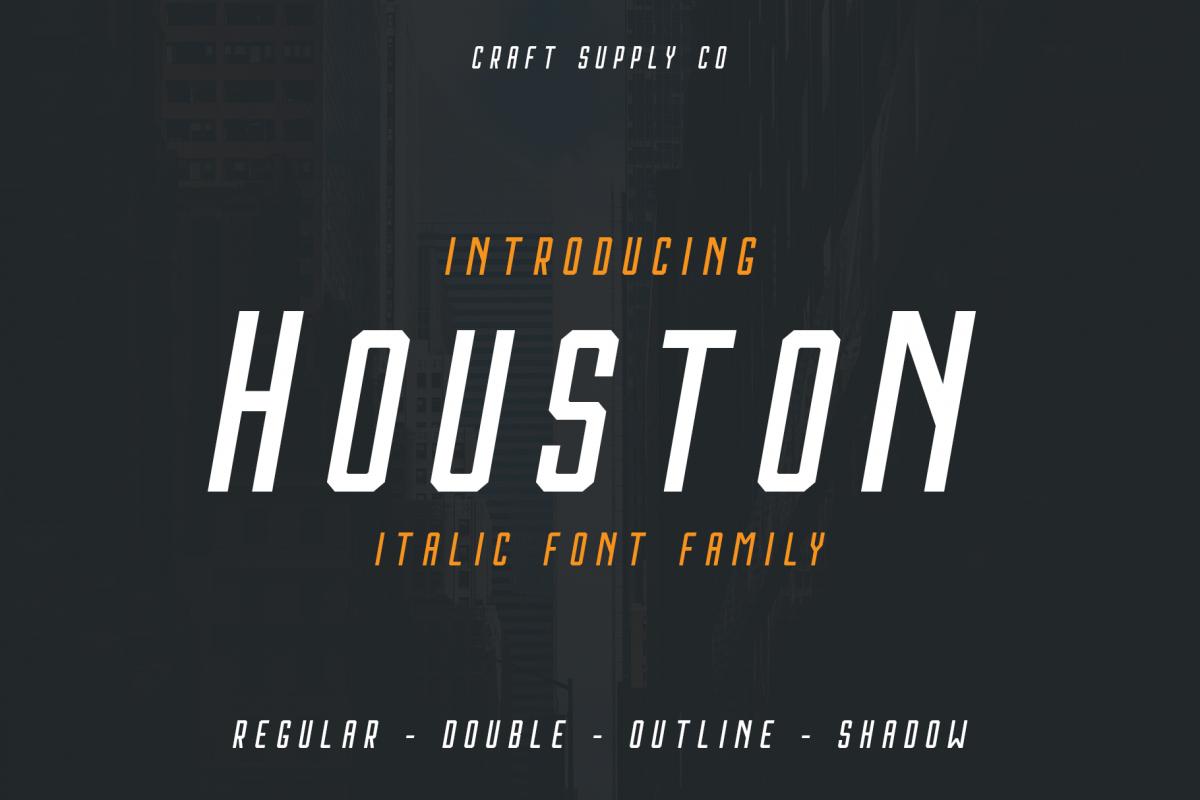 Houston Italic Font Family example image 1