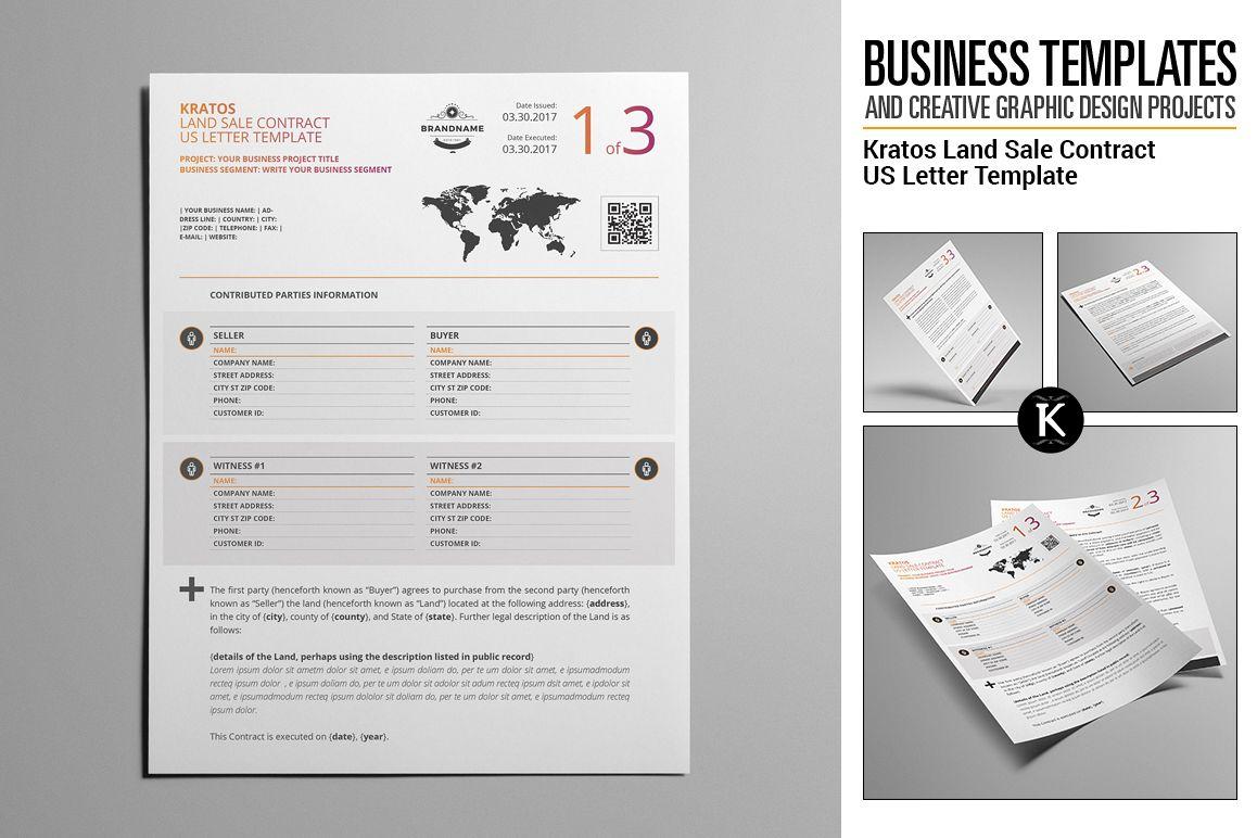 Kratos Land Sale Contract US Letter Tem   Design Bundles