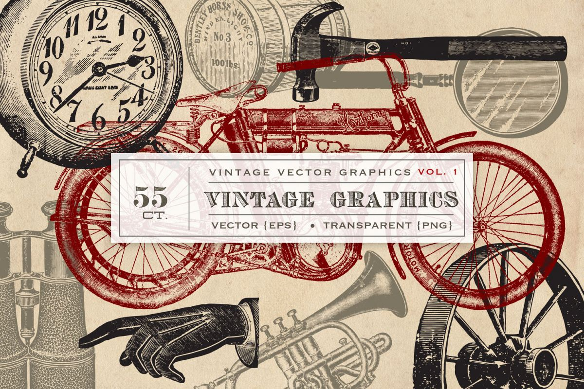 55 Vintage Vector Graphics example image 1