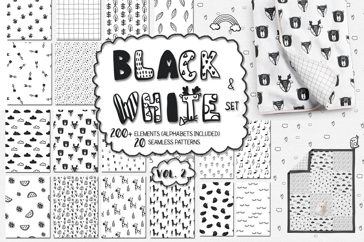 40% OFF! Black and white set (vol.2) example image 1