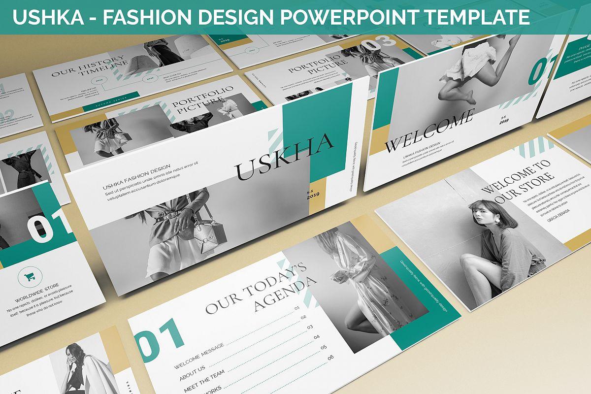 Ushka - Fashion Design Powerpoint Template example image 1