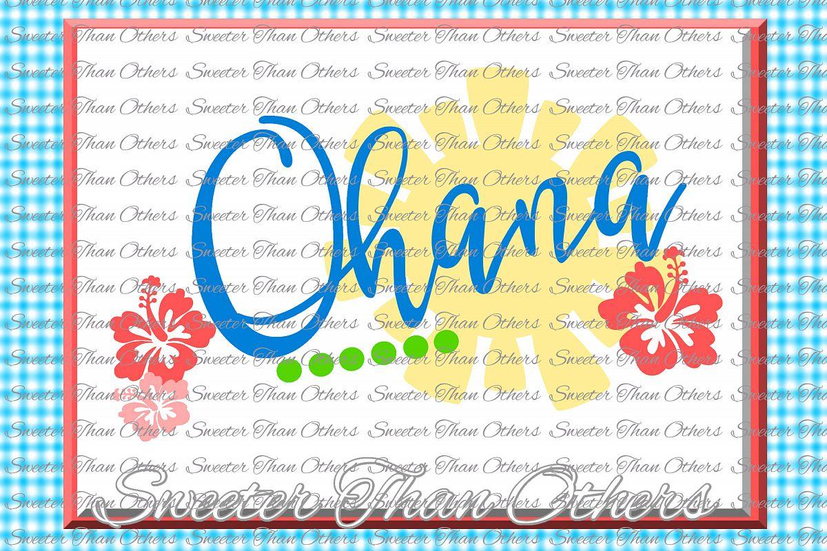 Ohana Svg Aloha svg, Summer Beach pattern example image 1