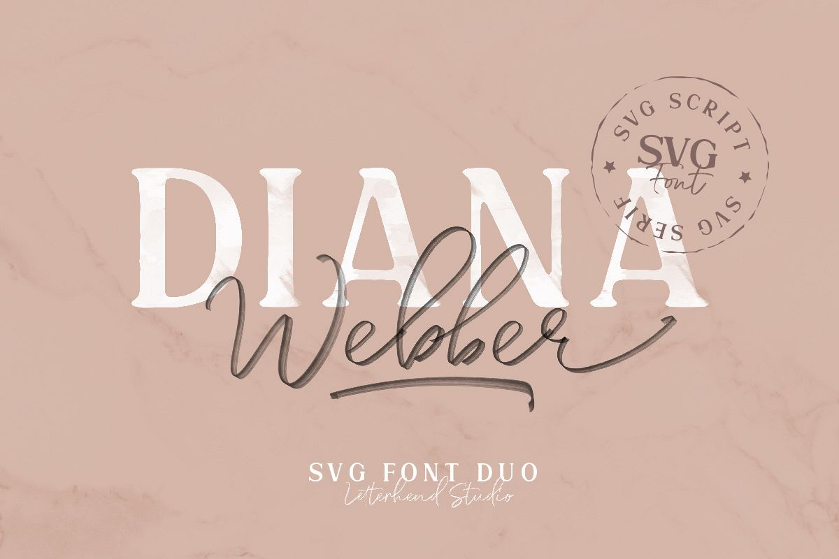 Diana Webber - SVG Font Duo example image 1