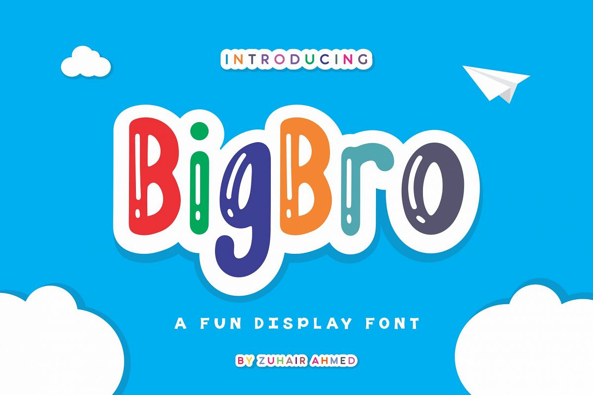 BigBro - A Fun Display Font example image 1
