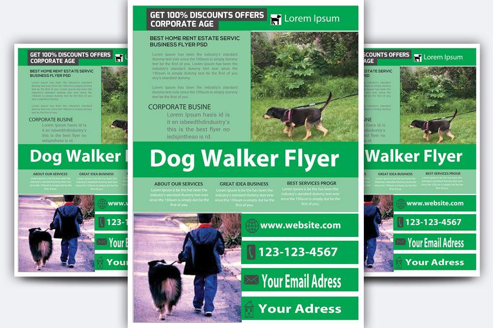 Dog Walker Flyer Example Image 1