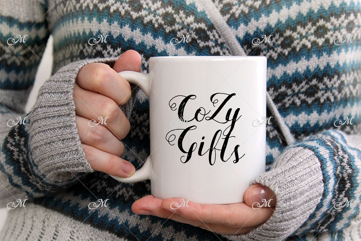 Cozy Mug Mockup. JPEG only example image 1