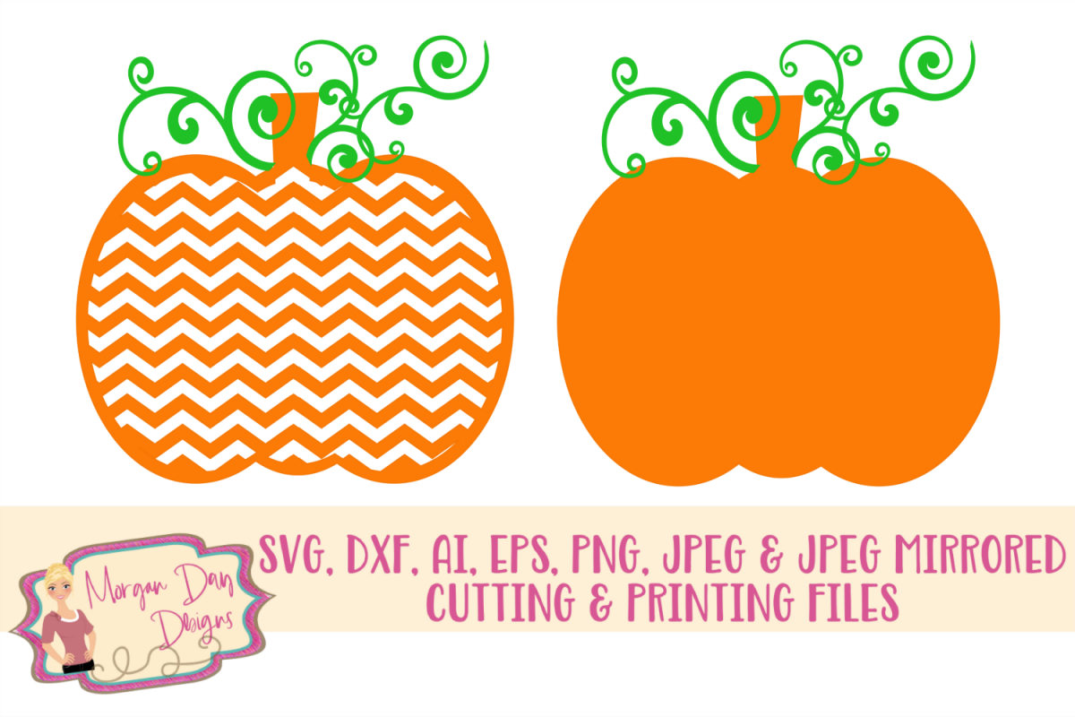 Pumpkin SVG, DXF, AI, EPS, PNG, JPEG example image 1