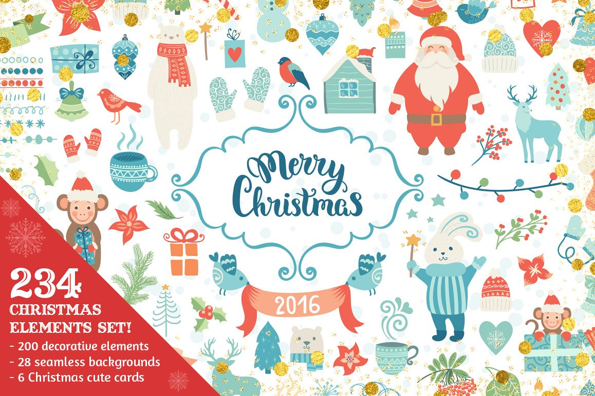 Big Christmas elements collection example image 1