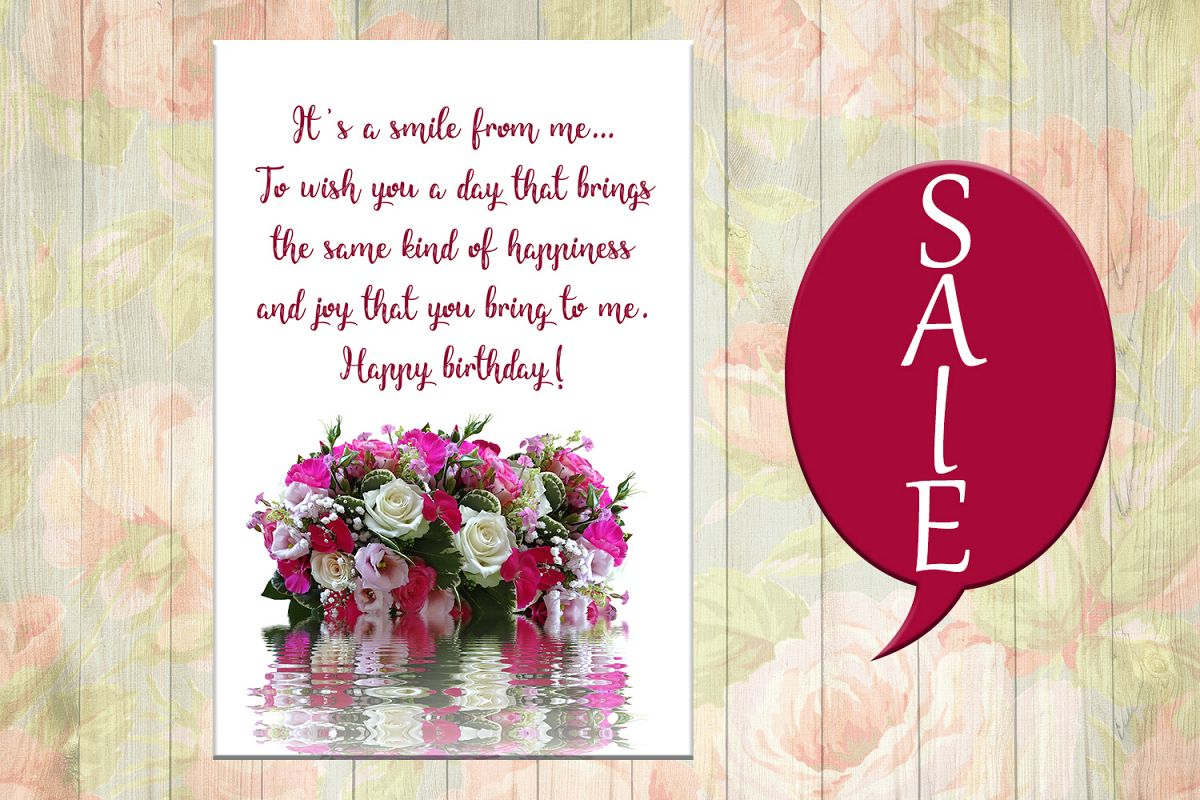 Flowers Birthday Card Happy OFF 50 Example Image 1