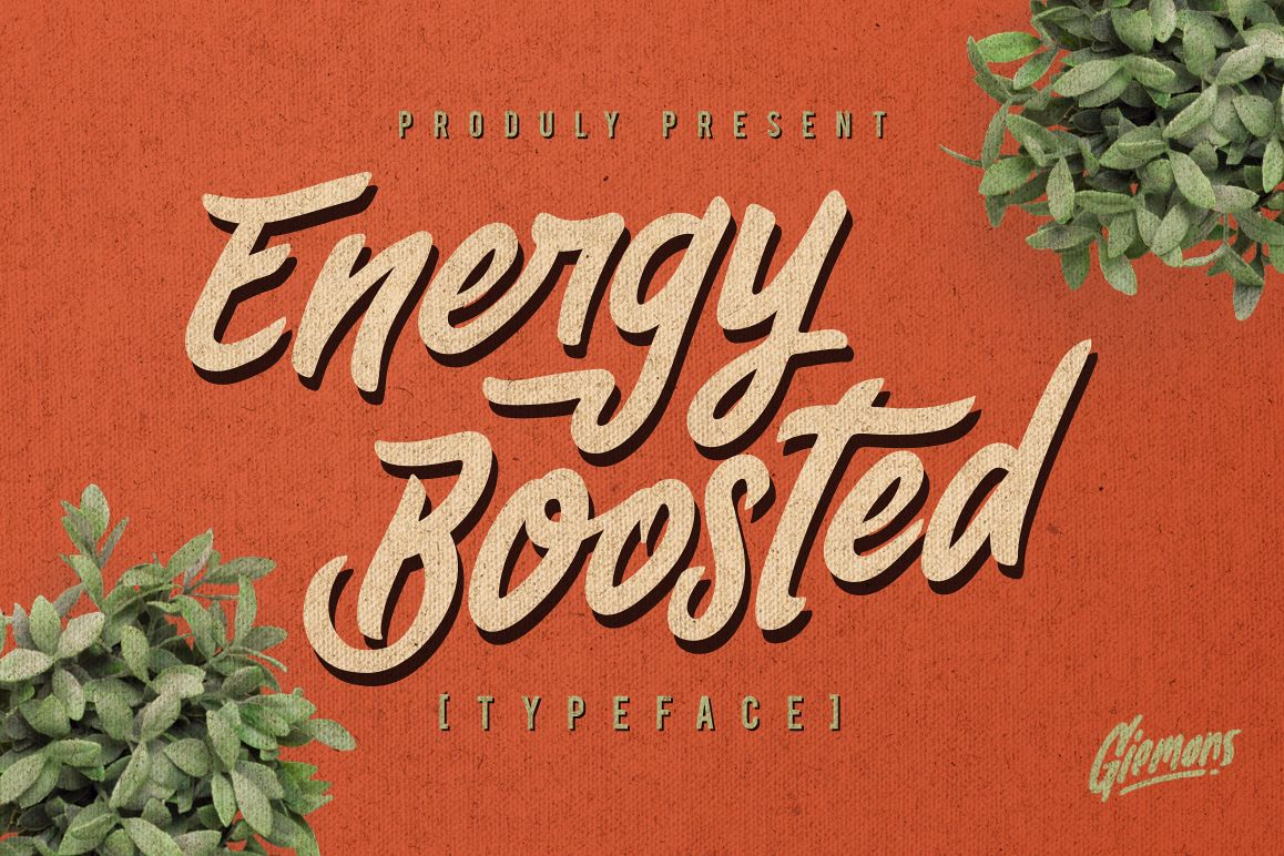 Energy Boosted Typeface example image 1