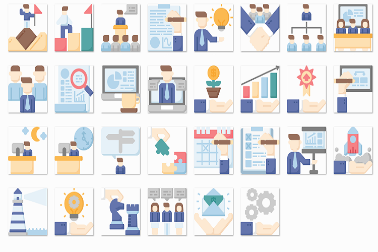 Business and Management flat example image 1