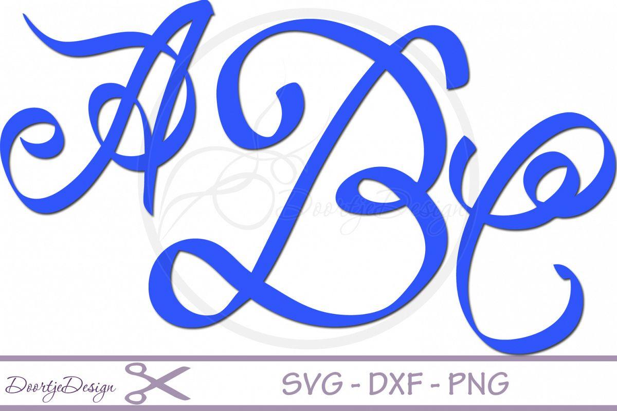 Script Alphabet Font SVG example image 1