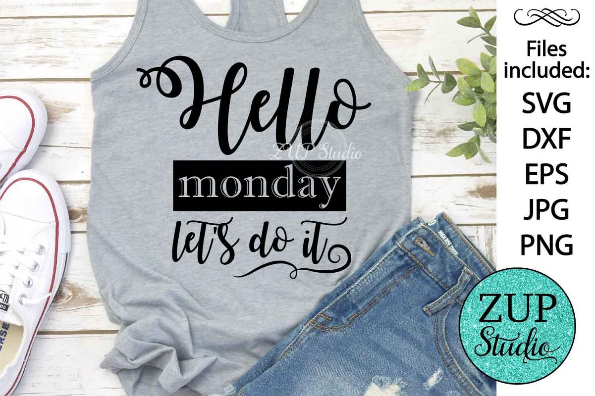 Hello monday Digital Cutting files file 84 example image 1