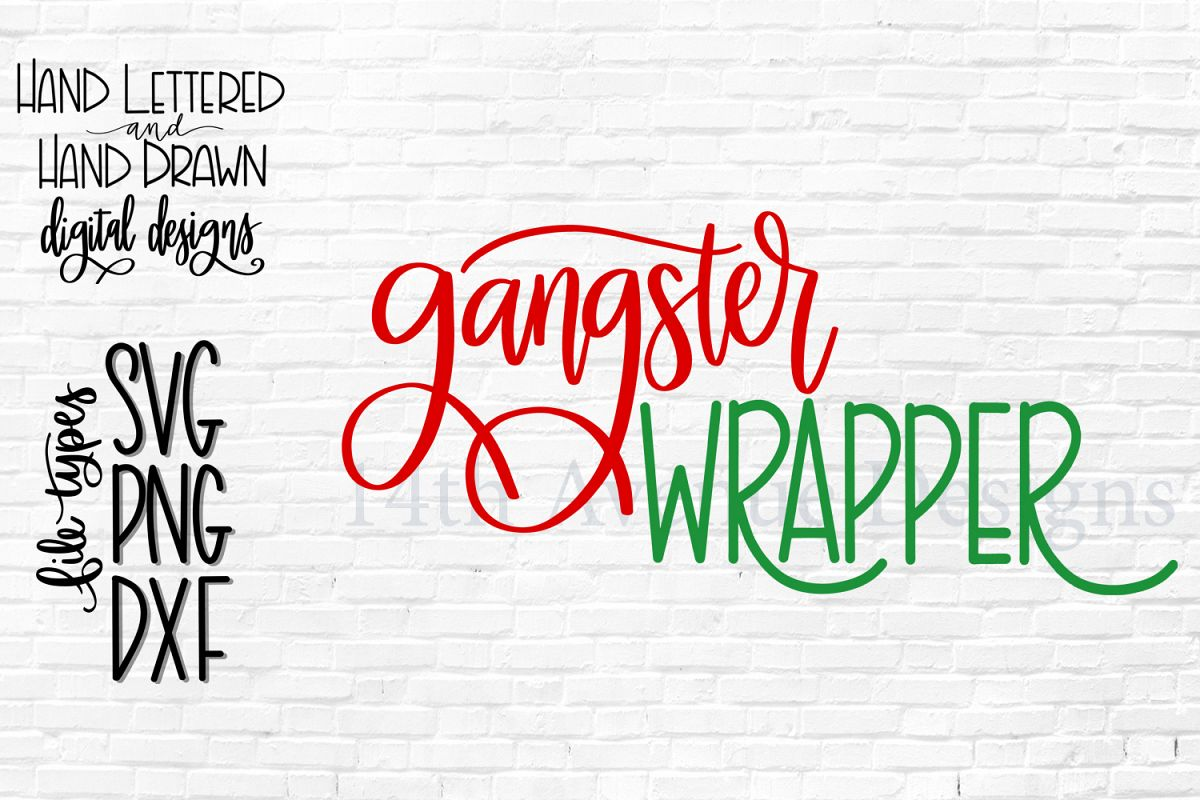 Christmas Wrapper SVG, Christmas SVG, Hand Lettered, Funny example image 1