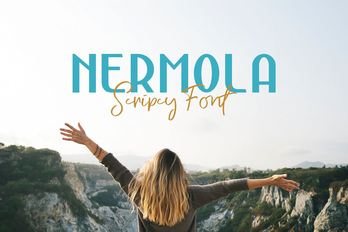 NERMOLA Scripcy Font example image 1