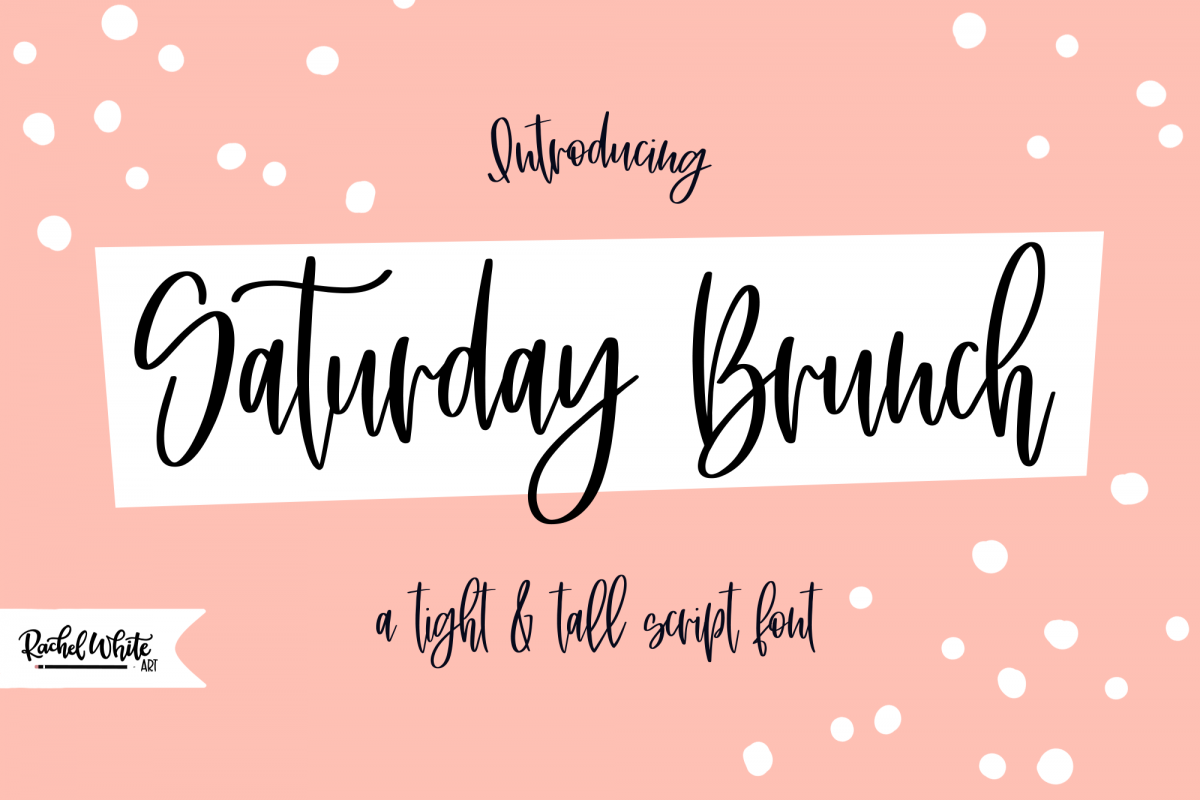 Saturday Brunch, a tight tall script font example image 1